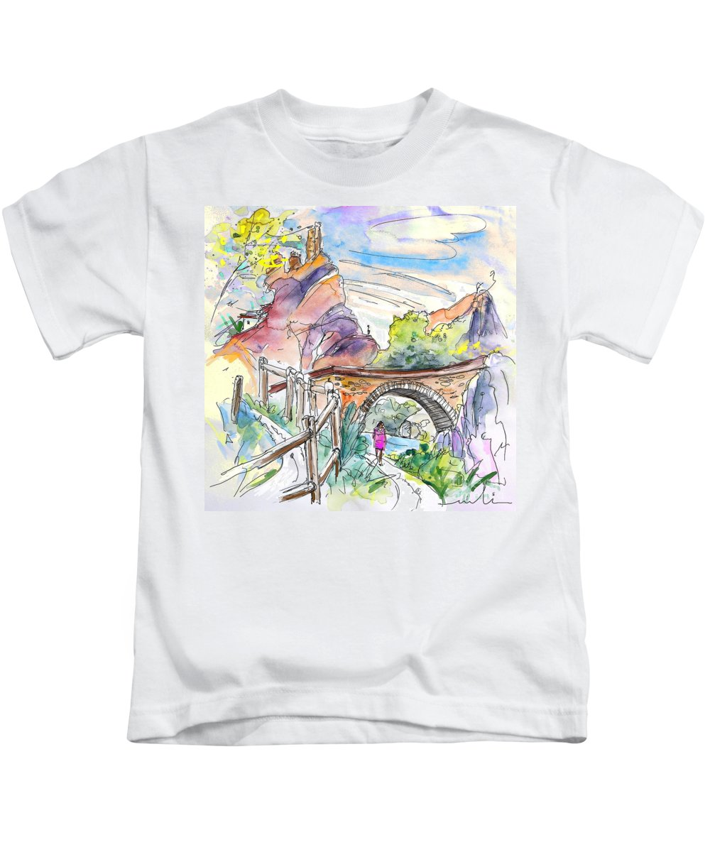 Arnedillo Kids T-Shirt featuring the painting Autol In La Rioja Spain 02 by Miki De Goodaboom