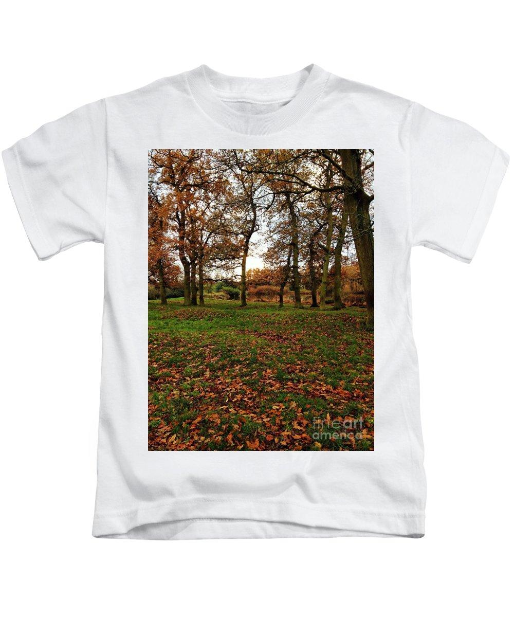 Autumn Kids T-Shirt featuring the photograph Autumn Fields, by Melissa Stephenson