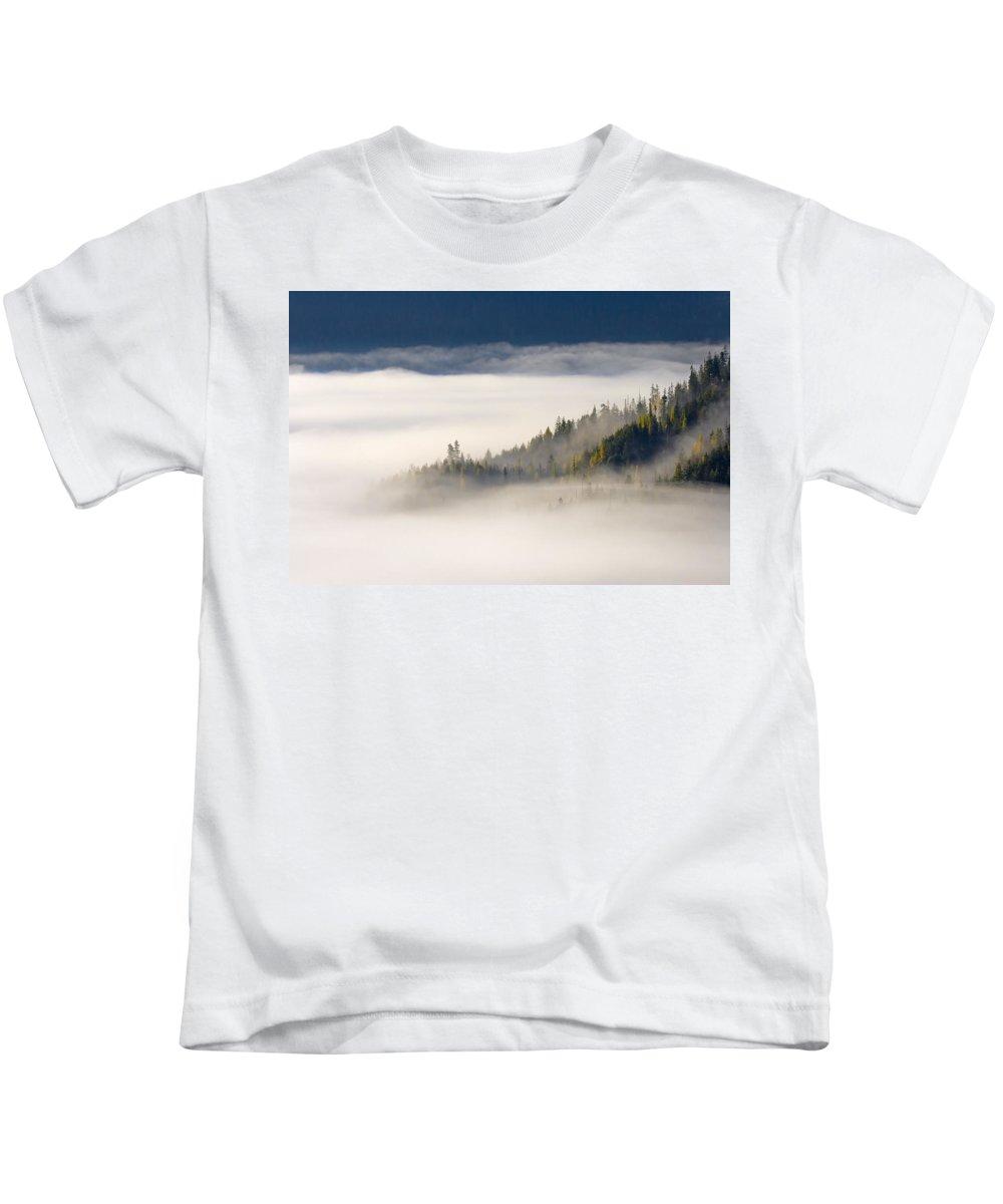 Fog Kids T-Shirt featuring the photograph Autumn Morn by Mike Dawson