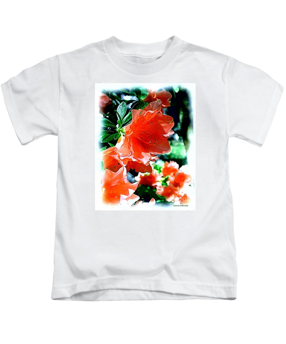 Fine Art Kids T-Shirt featuring the painting Azaleas In The Spring by Patricia Griffin Brett