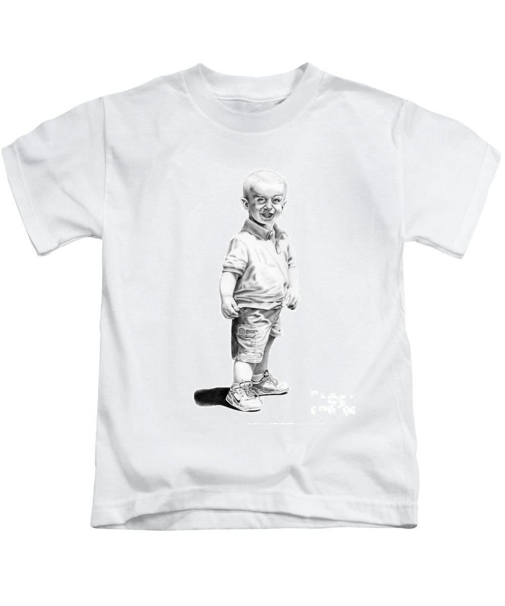 Vulcan Kids T-Shirt featuring the drawing Baby Spock by Murphy Elliott