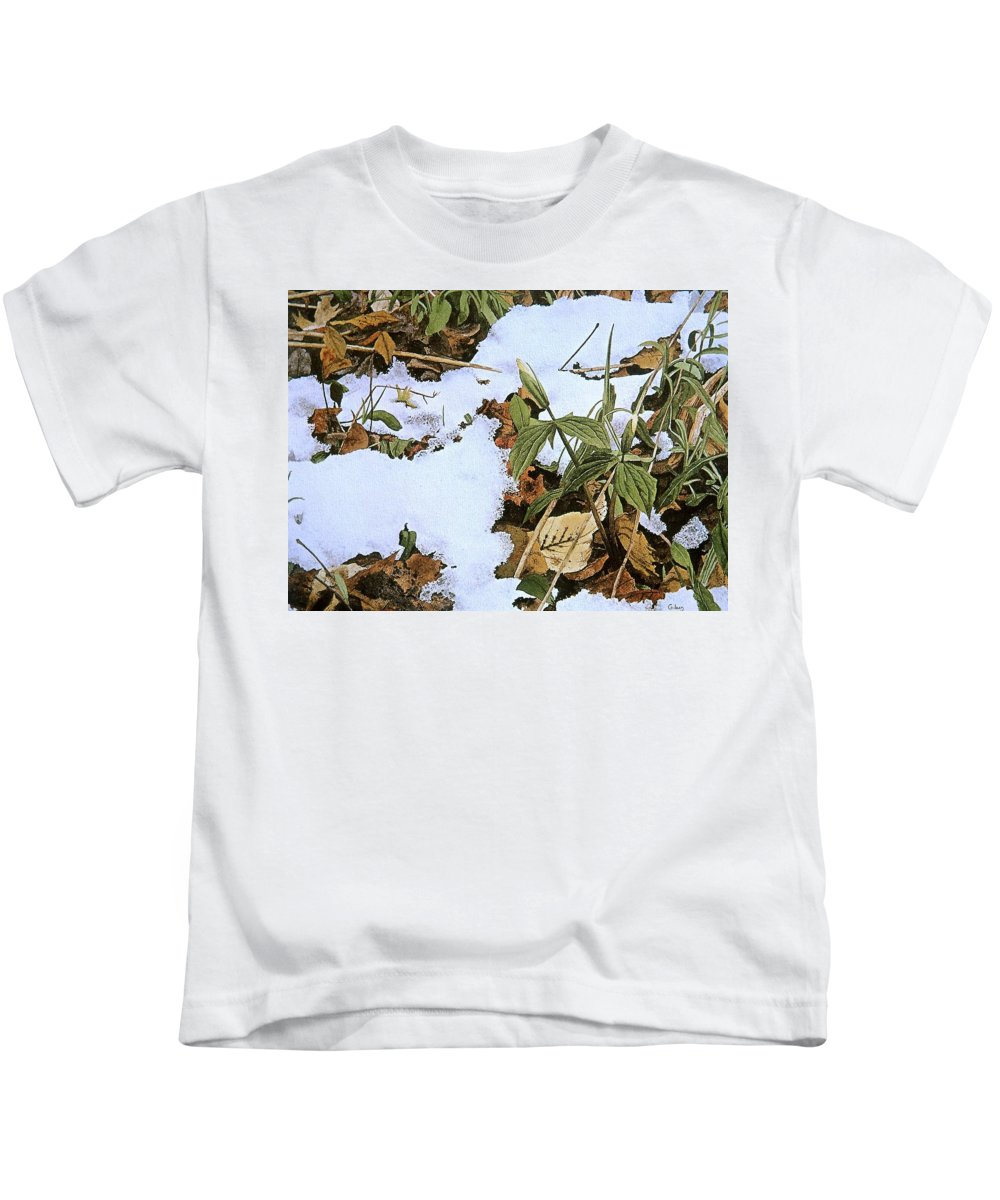Still Life Kids T-Shirt featuring the painting Back Forty by Conrad Mieschke