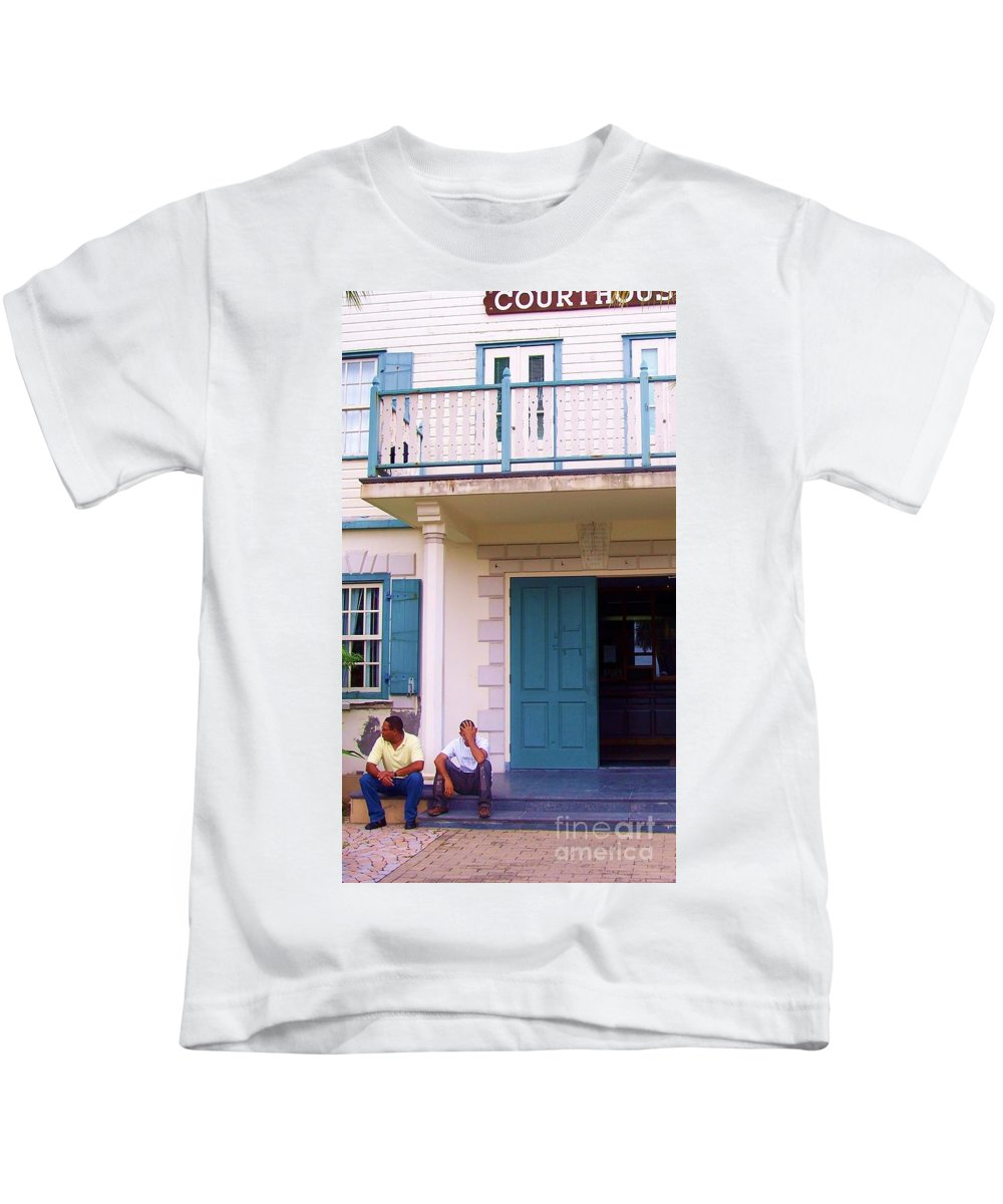Building Kids T-Shirt featuring the photograph Bad Day In Court by Debbi Granruth