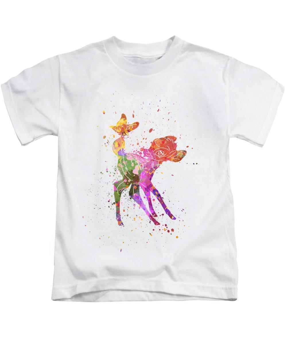 Bambi Paintings Kids T-Shirts