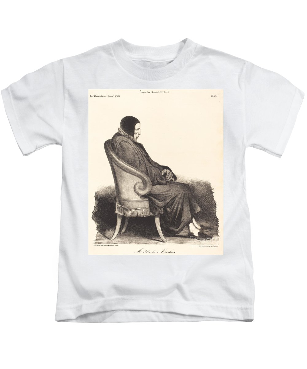 Kids T-Shirt featuring the painting Barb?-marbois by Honor? Daumier