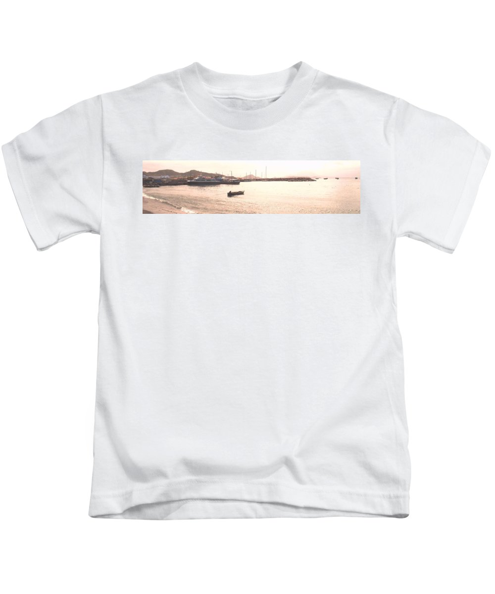 St Kitts Kids T-Shirt featuring the photograph Basseterre Harbour by Ian MacDonald