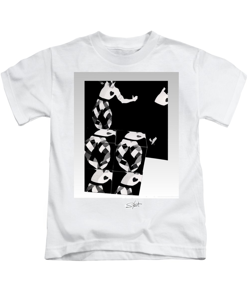 Dance Kids T-Shirt featuring the photograph Bauhaus Ballet 2 The Cubist Harlequin by Charles Stuart