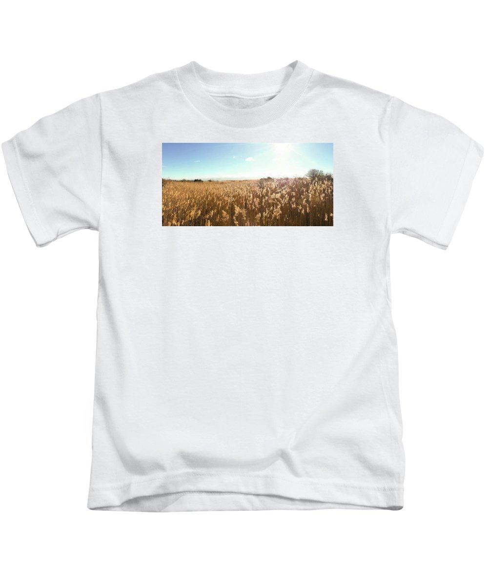 Fire Island Kids T-Shirt featuring the photograph Beach Scene by Danielle Attanasio