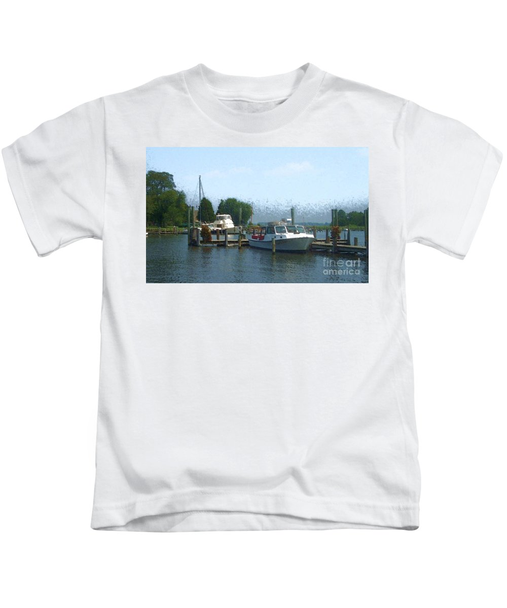 Boat Kids T-Shirt featuring the photograph Beached Buoys by Debbi Granruth