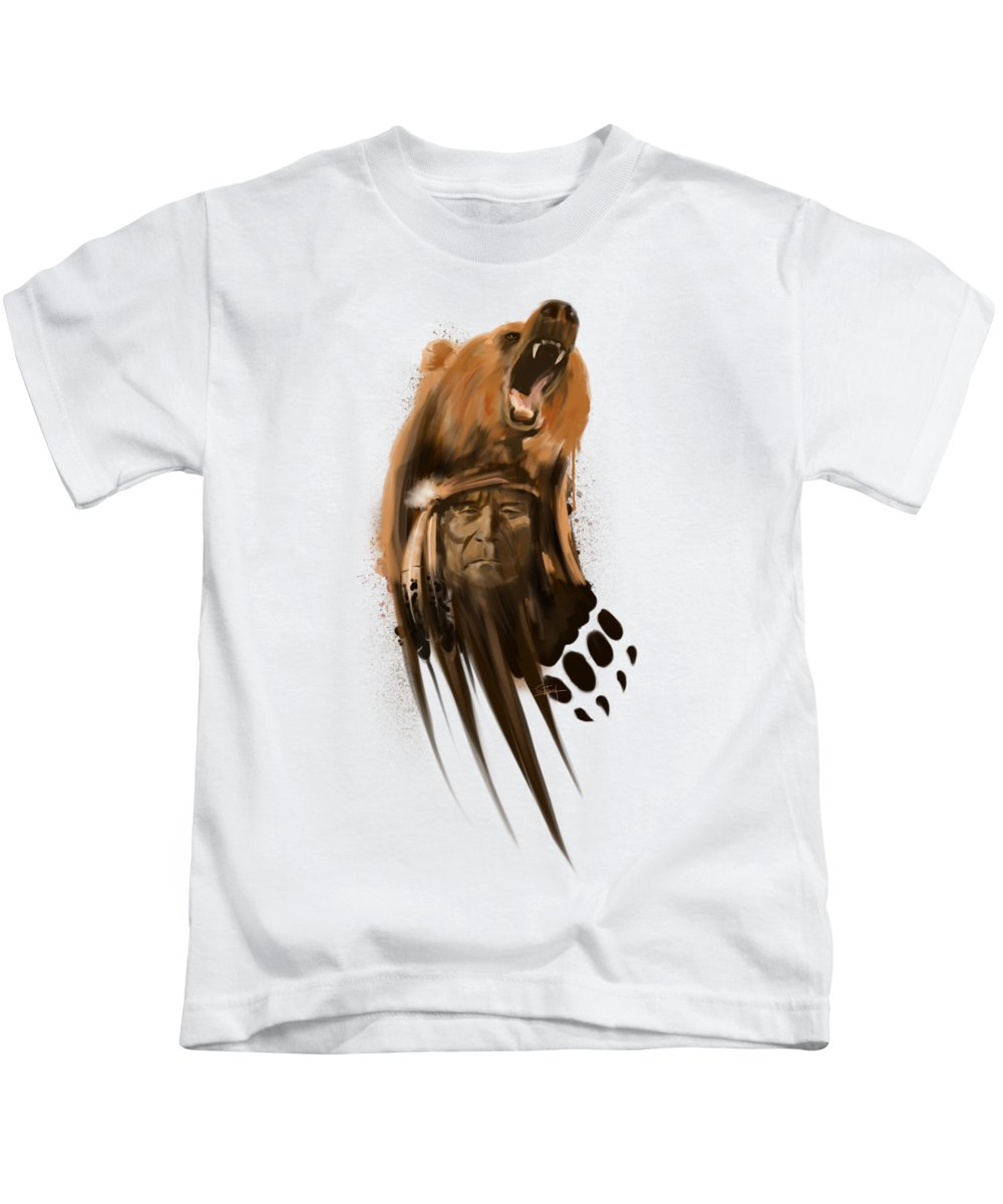 Indians Paintings Kids T-Shirts