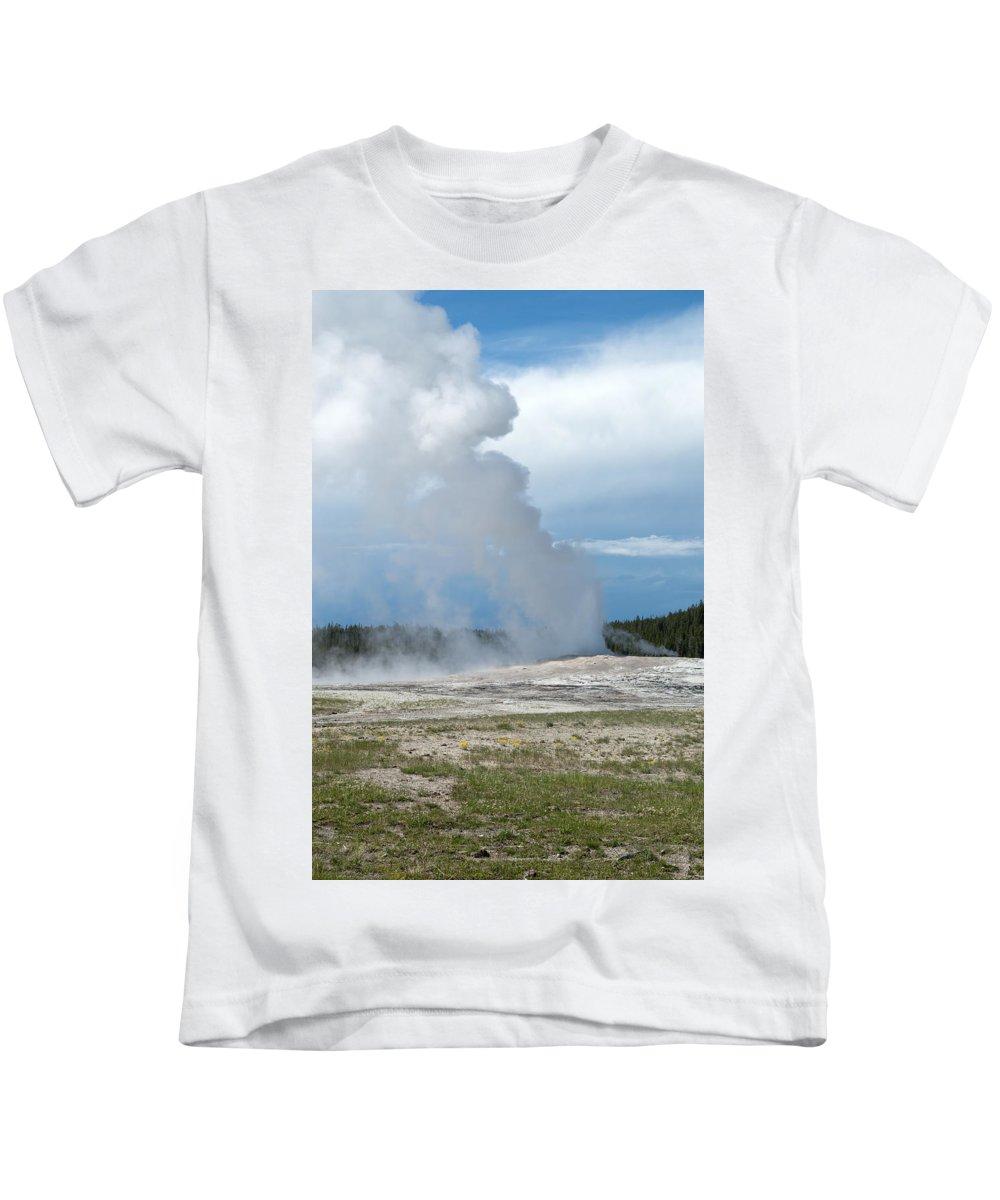Geyser Kids T-Shirt featuring the photograph Beautiful by Linda Kerkau