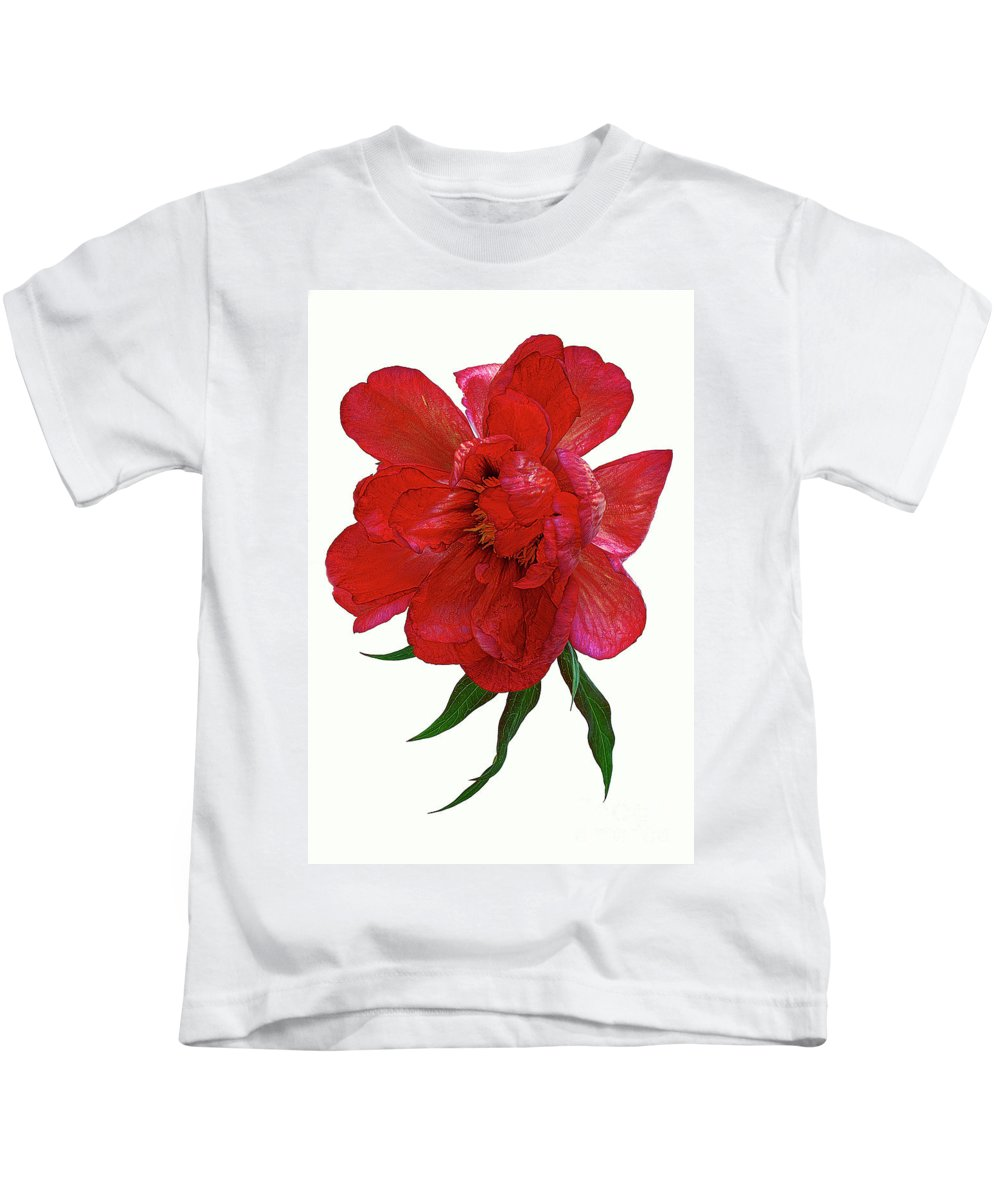 Beautiful Kids T-Shirt featuring the photograph Beautiful Peony Flower. by Alexander Vinogradov