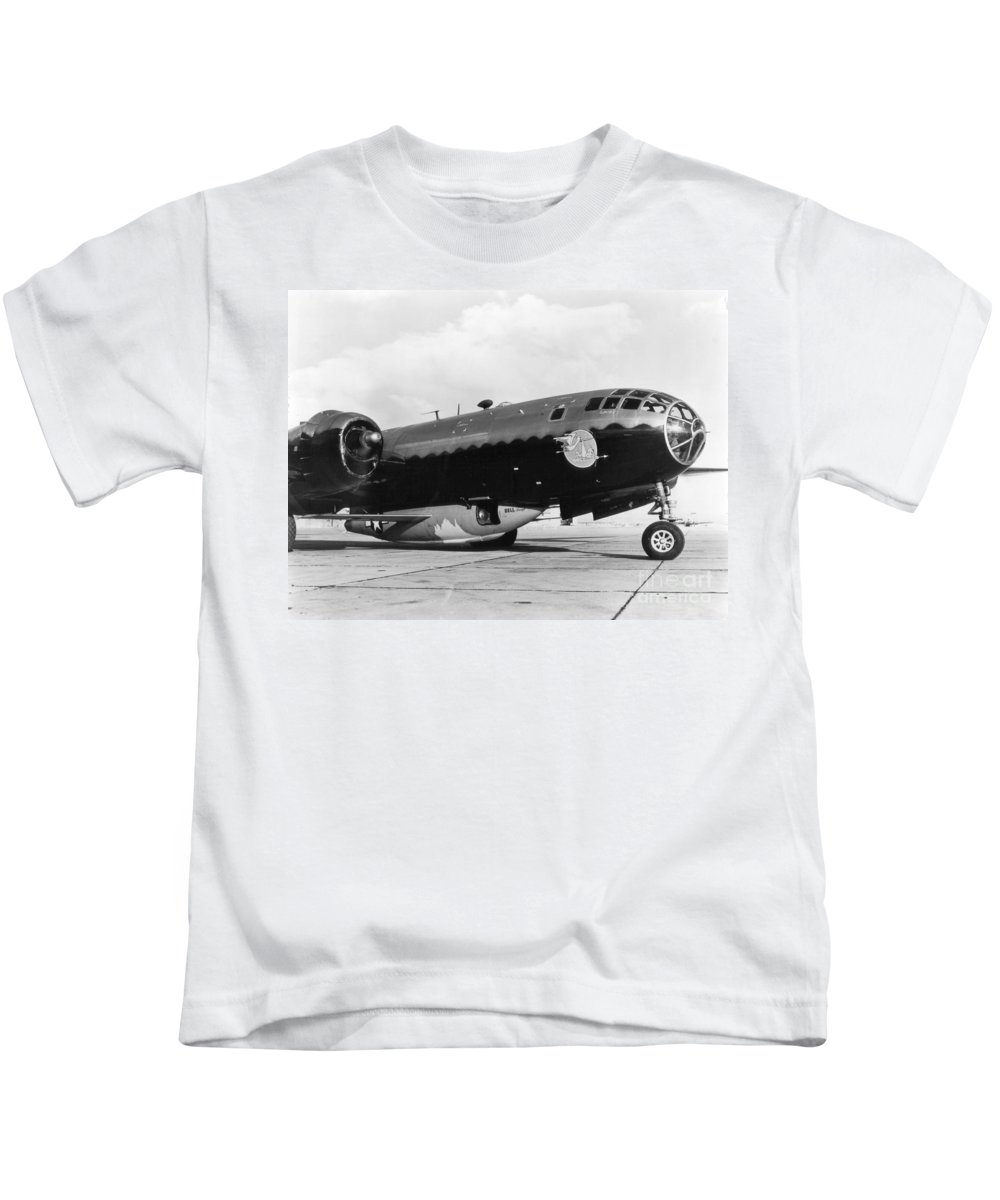 Science Kids T-Shirt featuring the photograph Bell X-1 Resting In Belly Of B-29, 1947 by Science Source