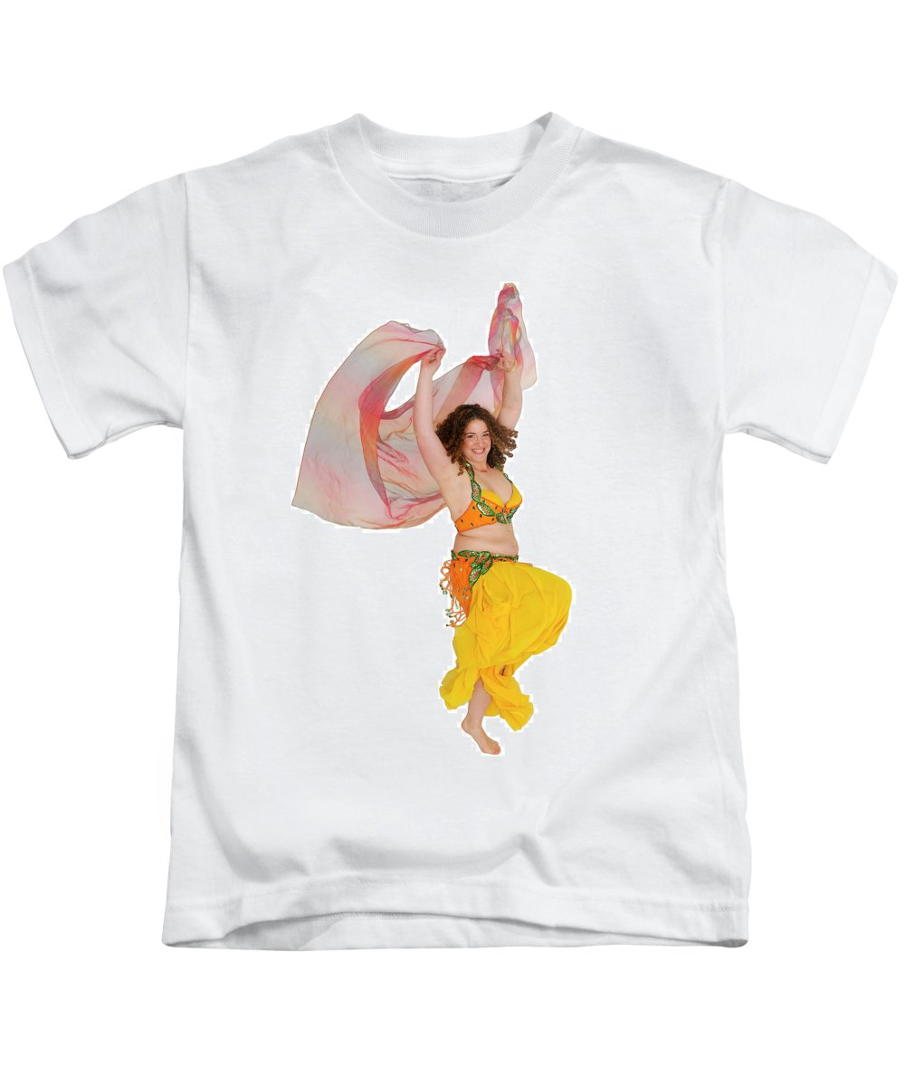 Art Kids T-Shirt featuring the photograph Belly Dancer by Ilan Rosen