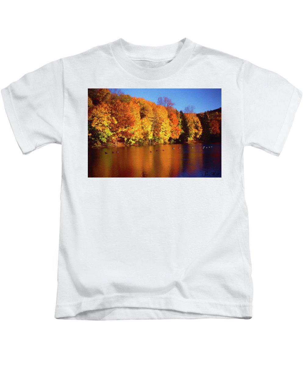 Bernharts Dam Kids T-Shirt featuring the photograph Bernharts Dam Fall 008 by Scott McAllister