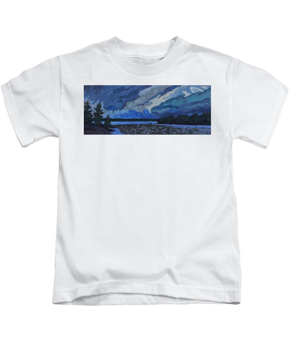 1897 Kids T-Shirt featuring the painting Beware The Ides by Phil Chadwick