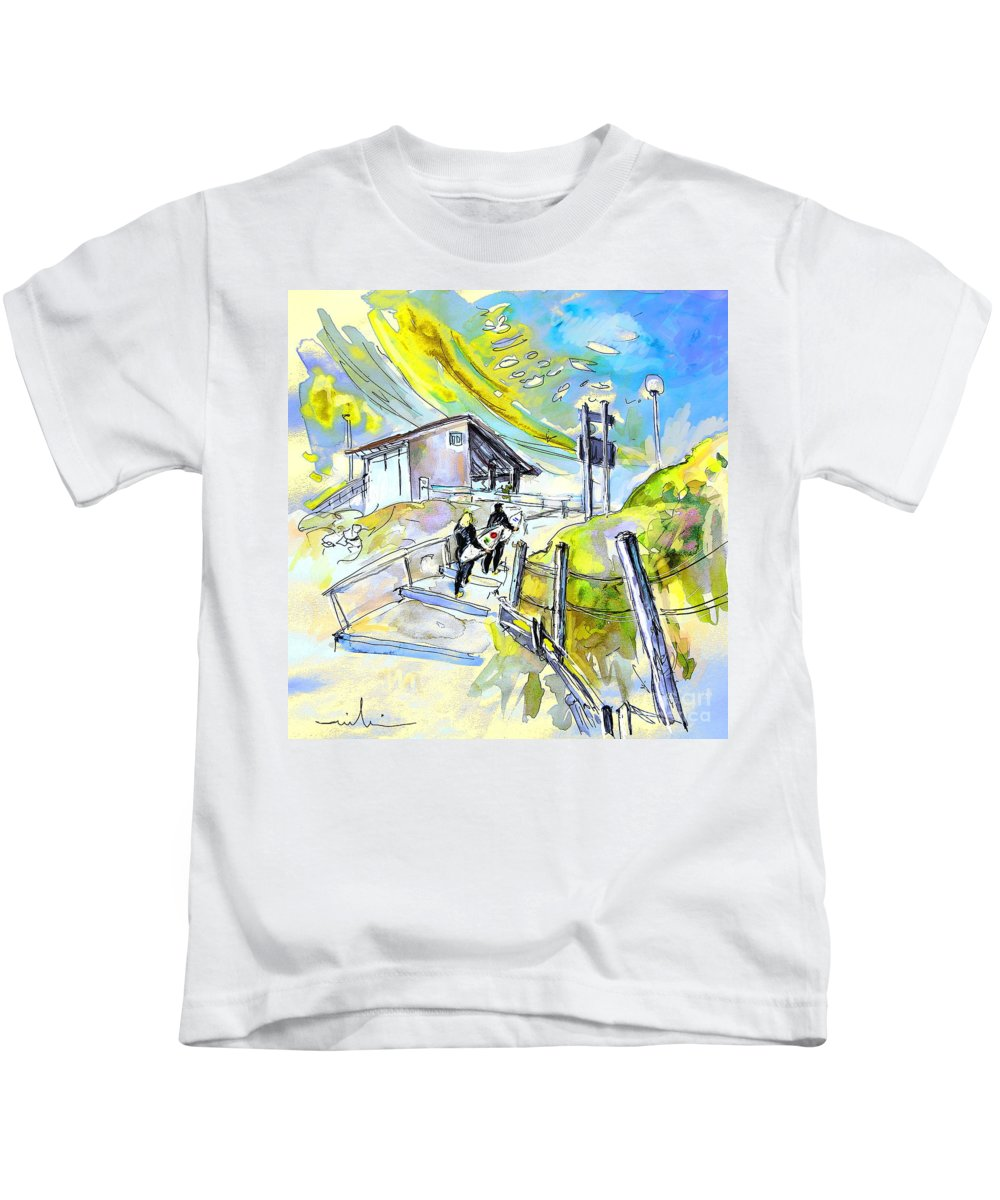 Biarritz Kids T-Shirt featuring the painting Biarritz 21 by Miki De Goodaboom