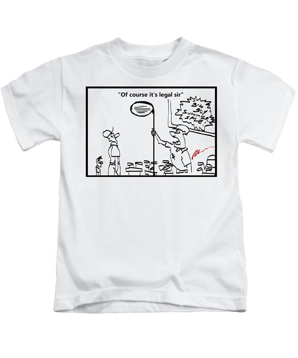 Big Boy Kids T-Shirt featuring the painting Big Boy Sales by Mark Robinson