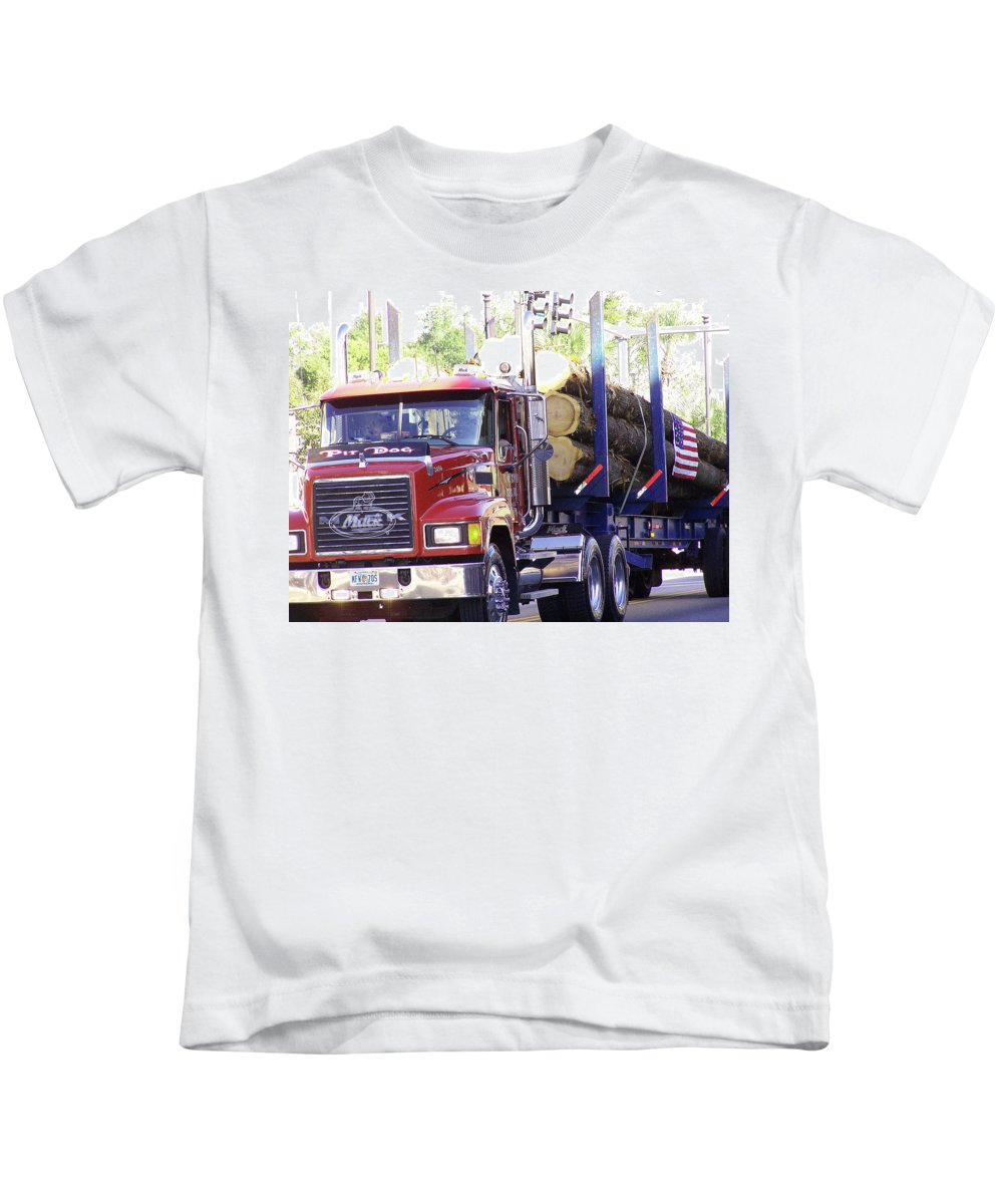 Big Mac Kids T-Shirt featuring the photograph Big Mack by Marilyn Holkham