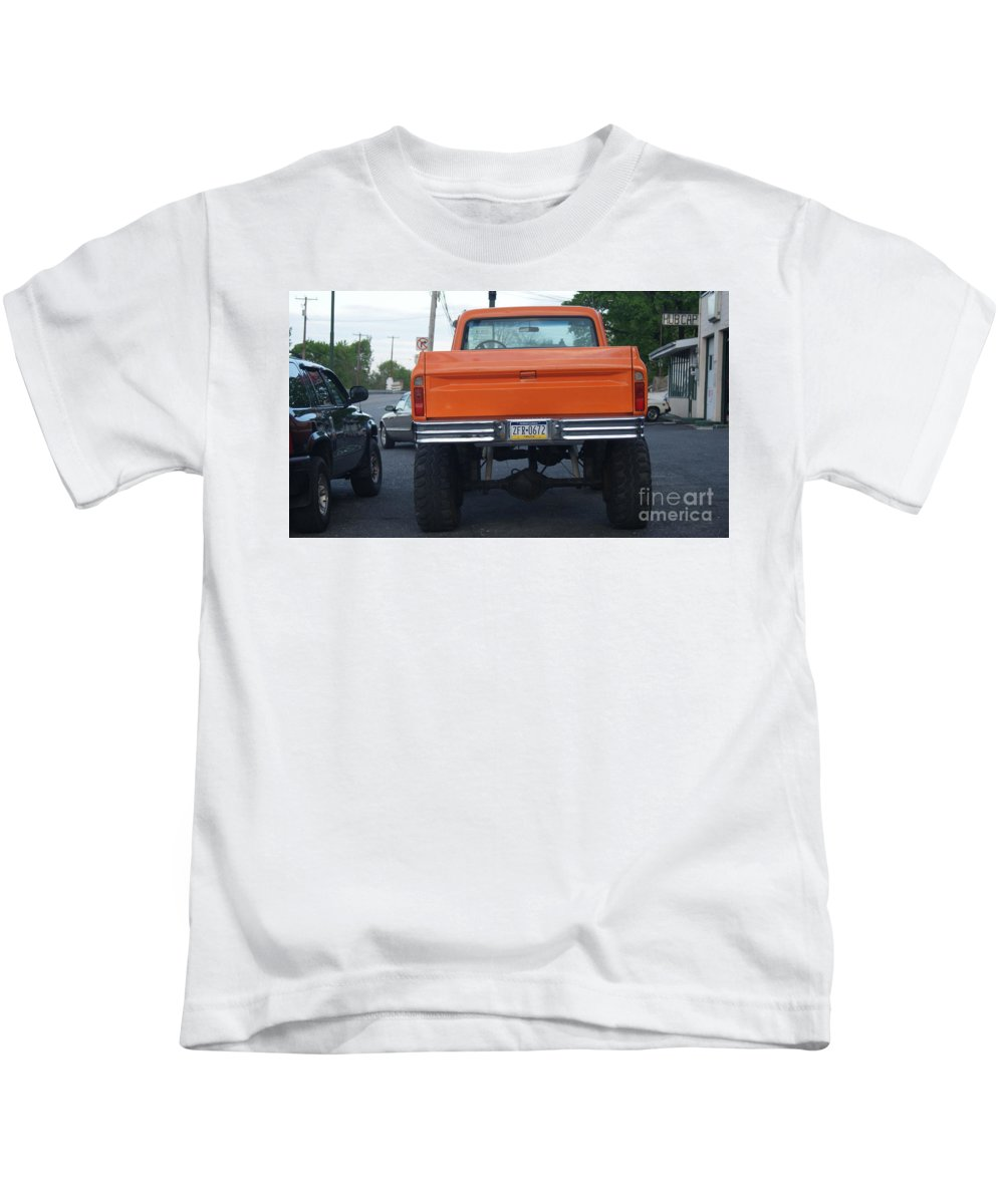 1972 Kids T-Shirt featuring the photograph Big Orange Crush Back  # by Rob Luzier