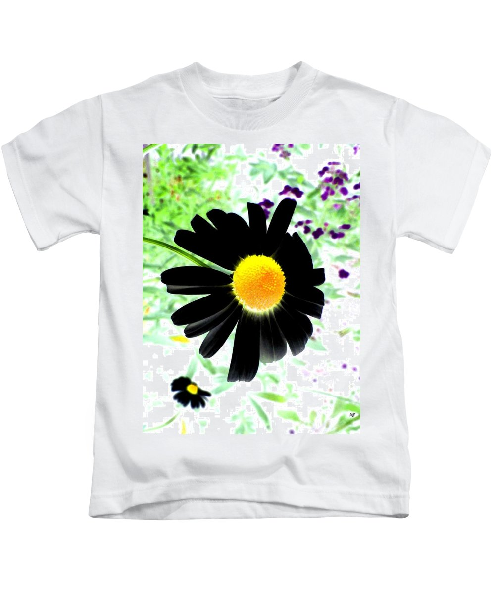Photo Design Kids T-Shirt featuring the photograph Black Daisy by Will Borden
