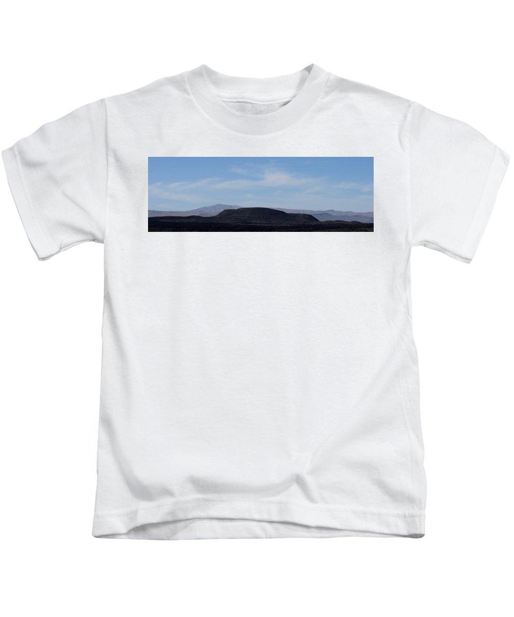 Black Mesa Mojave Mesa Mojave Landscapes California Landscapes North American Landscapes Desert Landscapes Southwest Landscapes Arid Landscapes Black Mountains Kids T-Shirt featuring the photograph Black Mesa by Joshua Bales