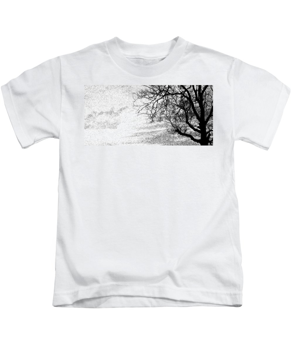 Sky Kids T-Shirt featuring the photograph Black Rain by Ed Smith