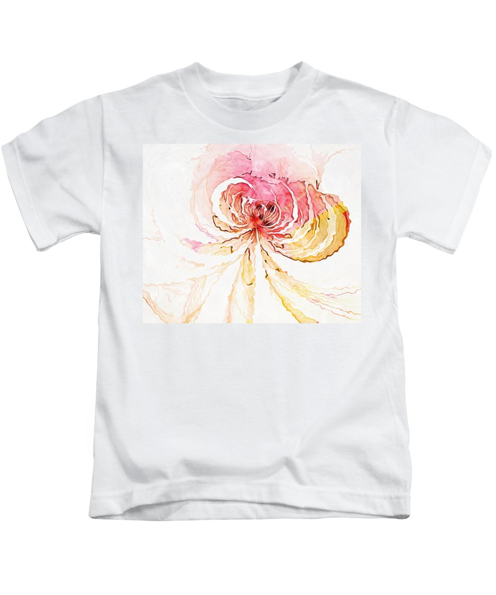 Fractal Art Kids T-Shirt featuring the digital art Blossom by Amanda Moore