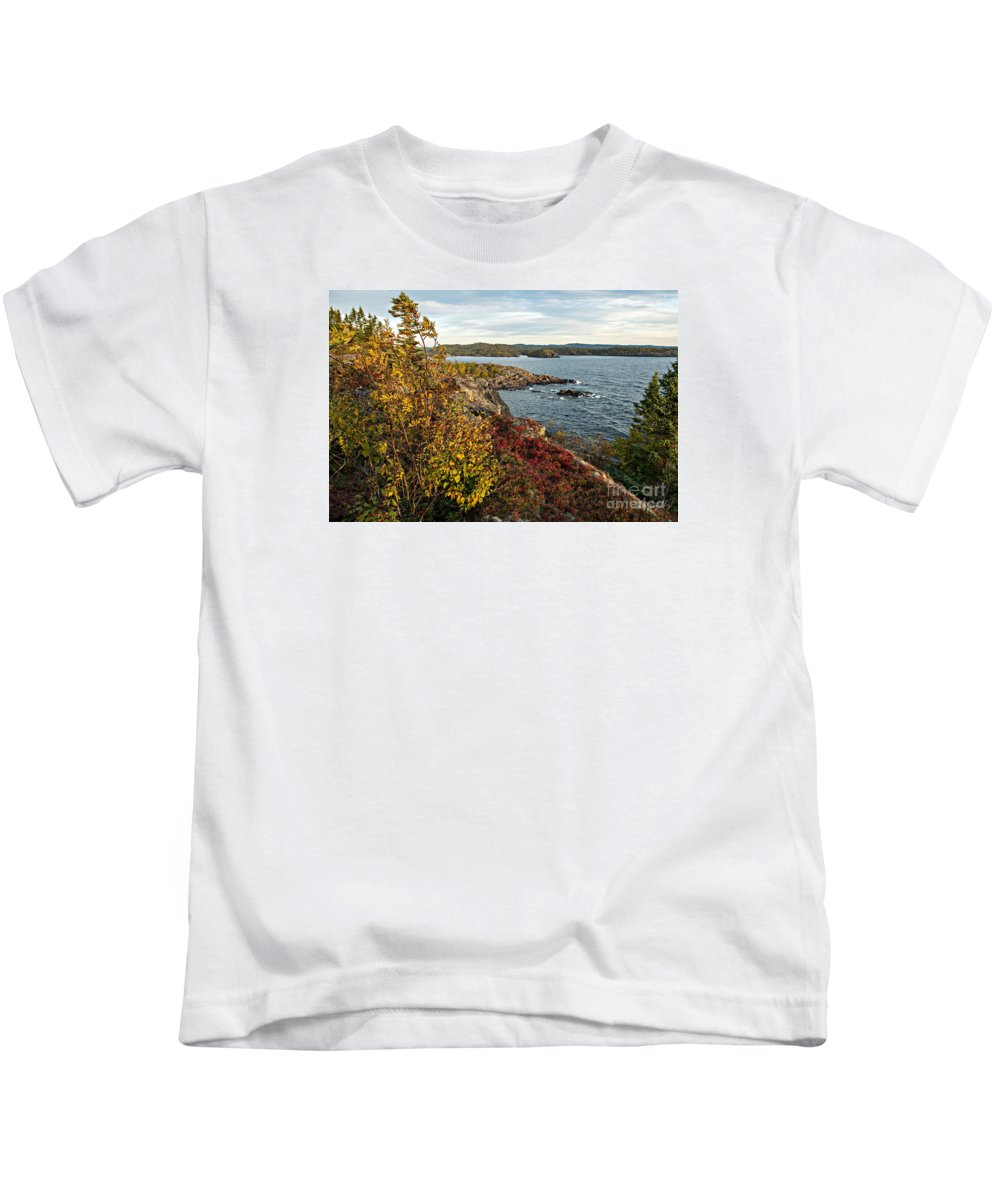 Great Lakes Kids T-Shirt featuring the photograph Blowing in the wind by Doug Gibbons