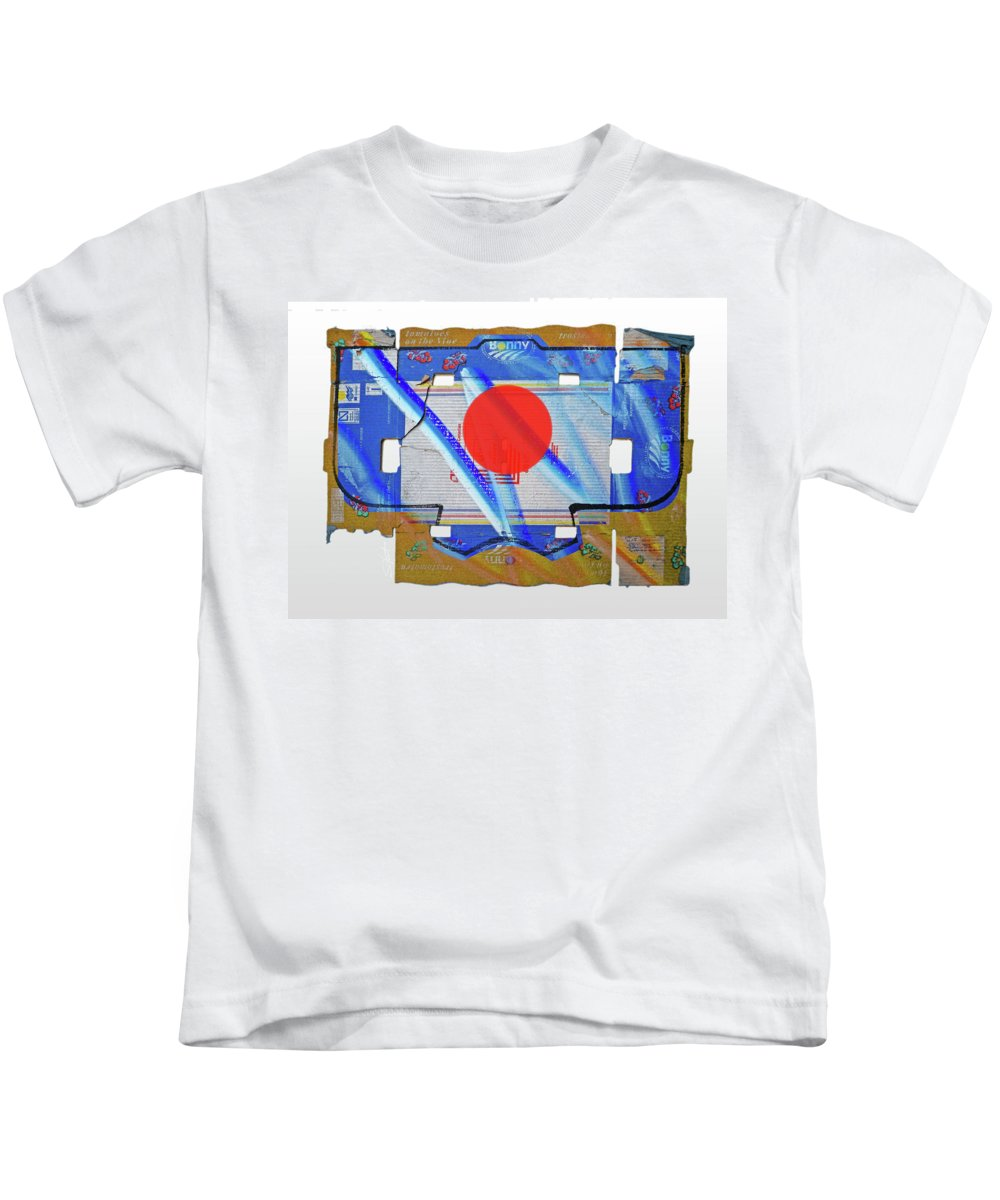 Japanese Kids T-Shirt featuring the painting Blue Kimono by Charles Stuart