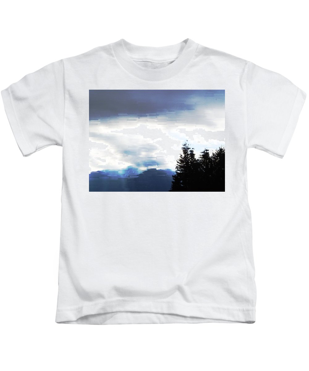 Skies Kids T-Shirt featuring the photograph Blue Skies by Jeff Swan