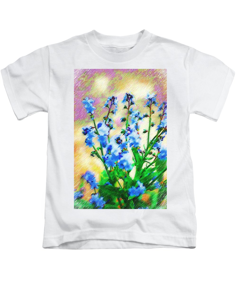 Blue Kids T-Shirt featuring the photograph Blue Wildflowers by Donna Bentley