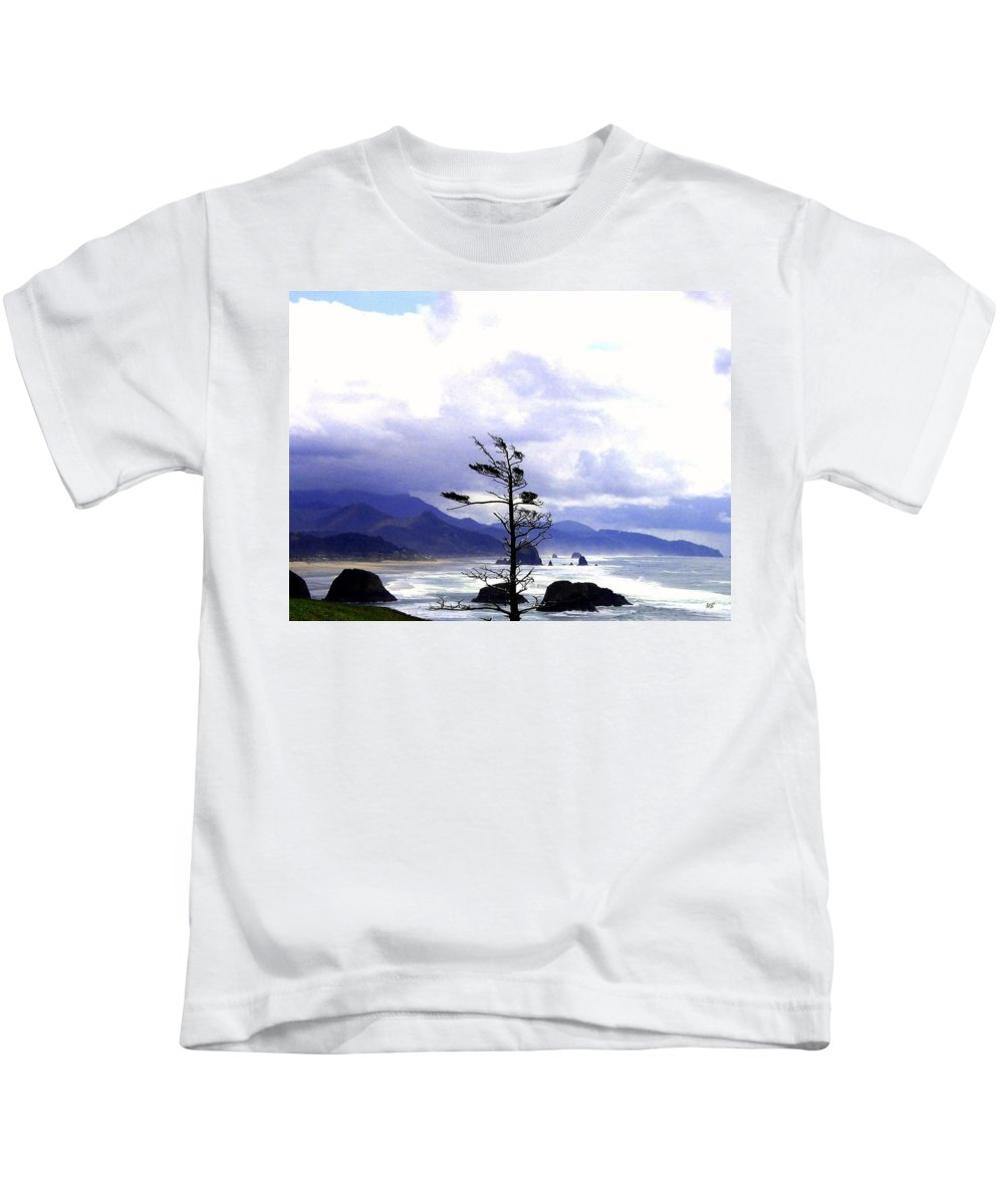 Blustery Kids T-Shirt featuring the photograph Blustery by Will Borden
