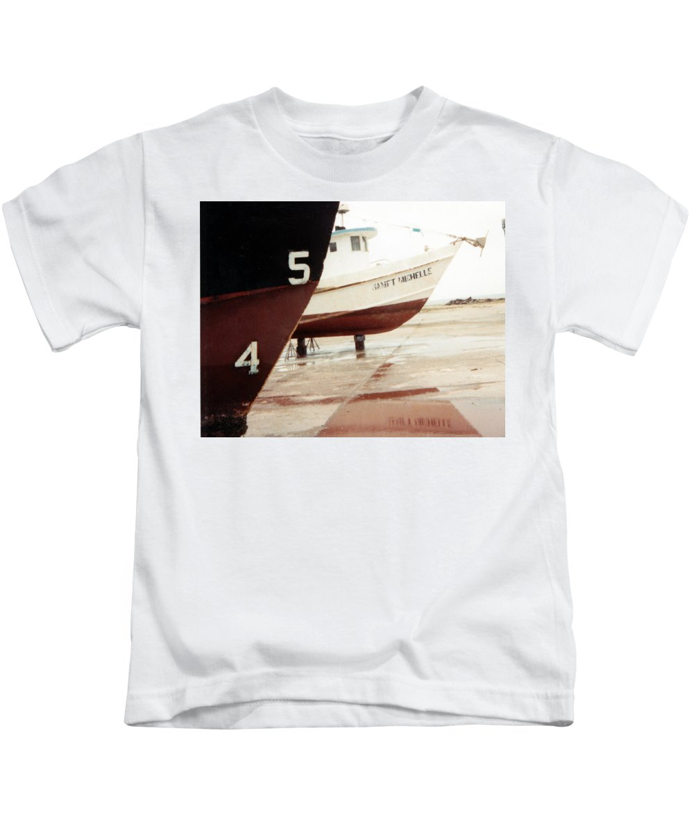 Boat Reflection Kids T-Shirt featuring the photograph Boat Reflection 2 by Cindy New