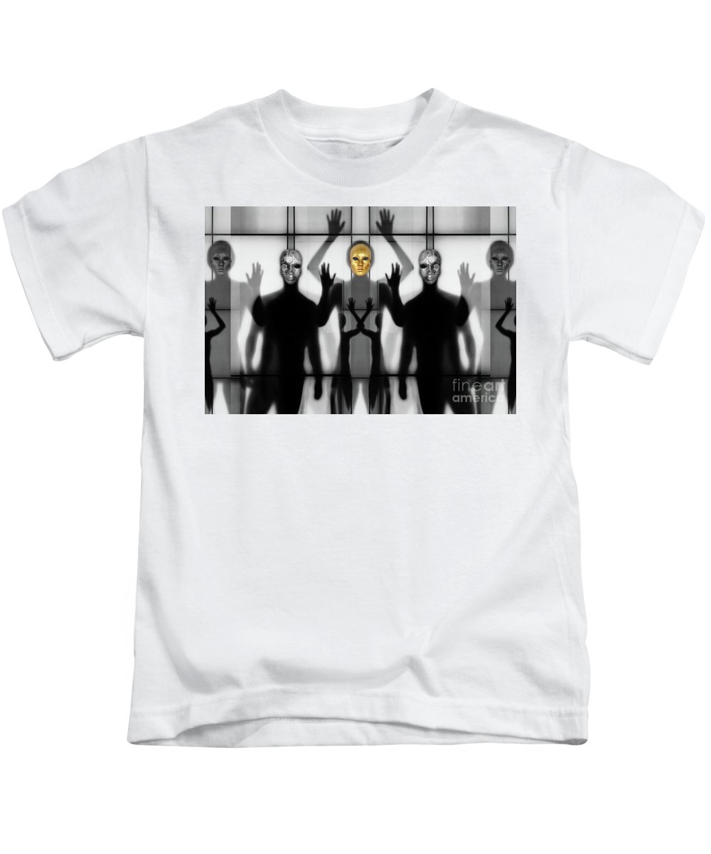 Gold Kids T-Shirt featuring the photograph Body Language 64 by Igor Shrayer