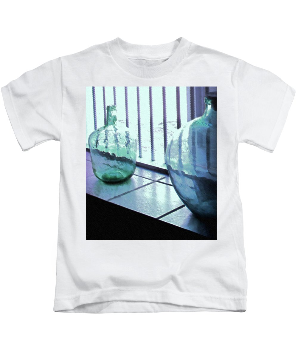 Bottles Kids T-Shirt featuring the photograph Bottles Still Life by Ian MacDonald