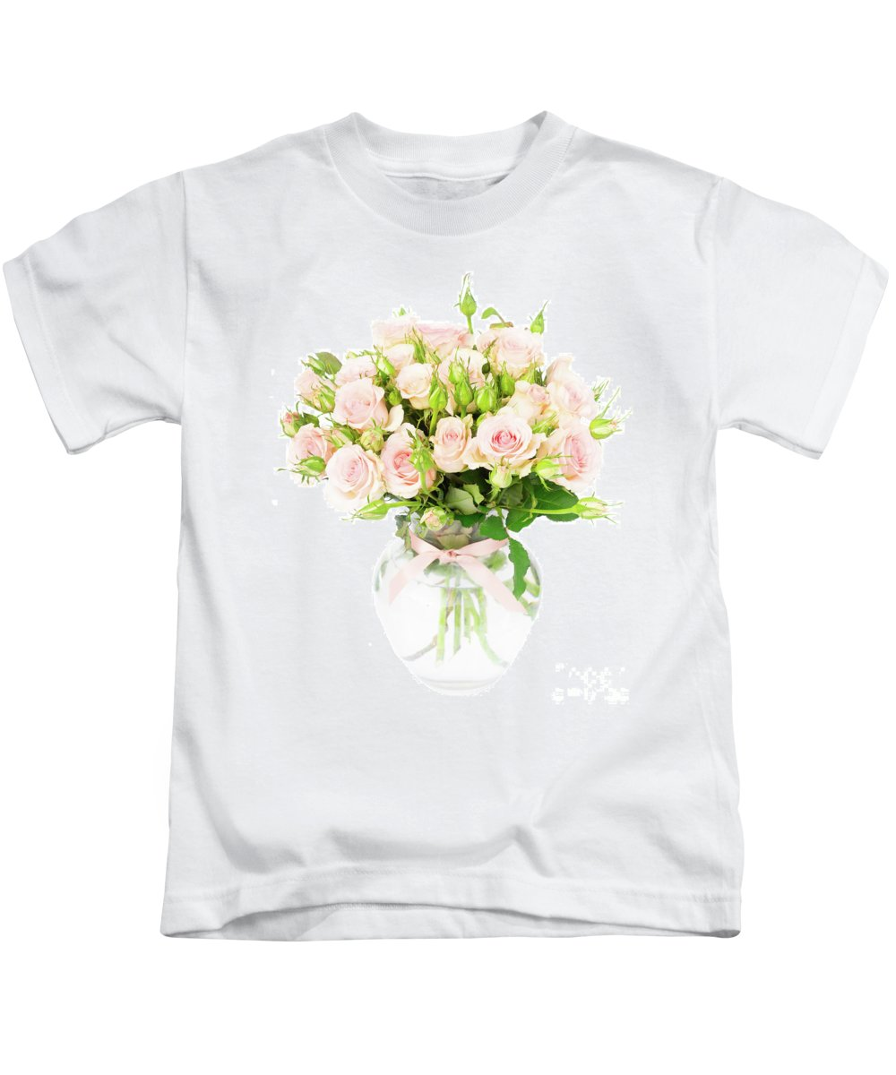 Rose Kids T-Shirt featuring the photograph Garden Roses by Anastasy Yarmolovich