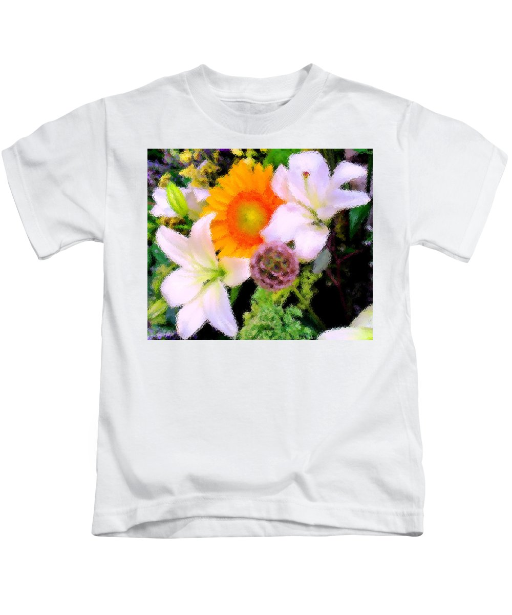 Sun Kids T-Shirt featuring the photograph Bouquet Softly There by Ian MacDonald
