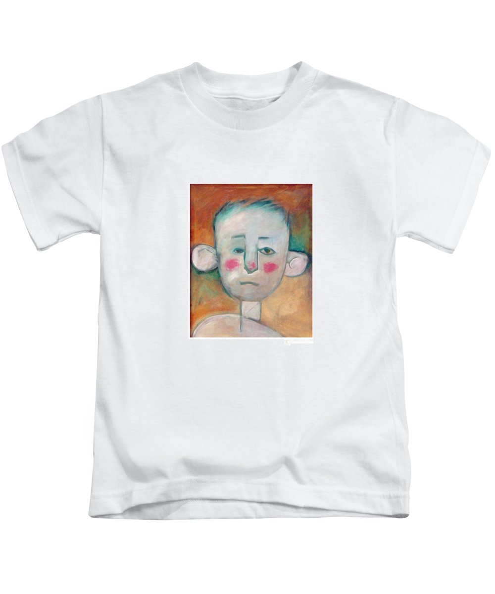 Boy Kids T-Shirt featuring the painting Boy by Tim Nyberg