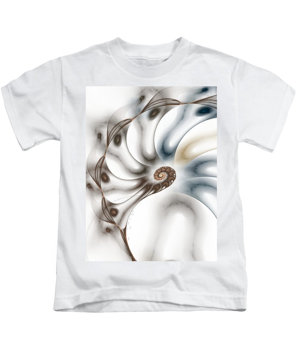Fractal Kids T-Shirt featuring the digital art Branching Out by Amorina Ashton
