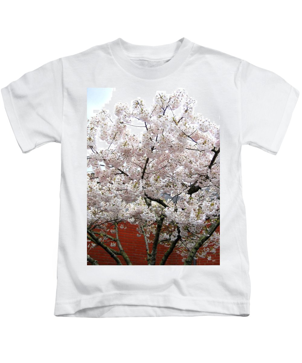 Bricks And Blossoms Kids T-Shirt featuring the photograph Bricks And Blossoms by Will Borden