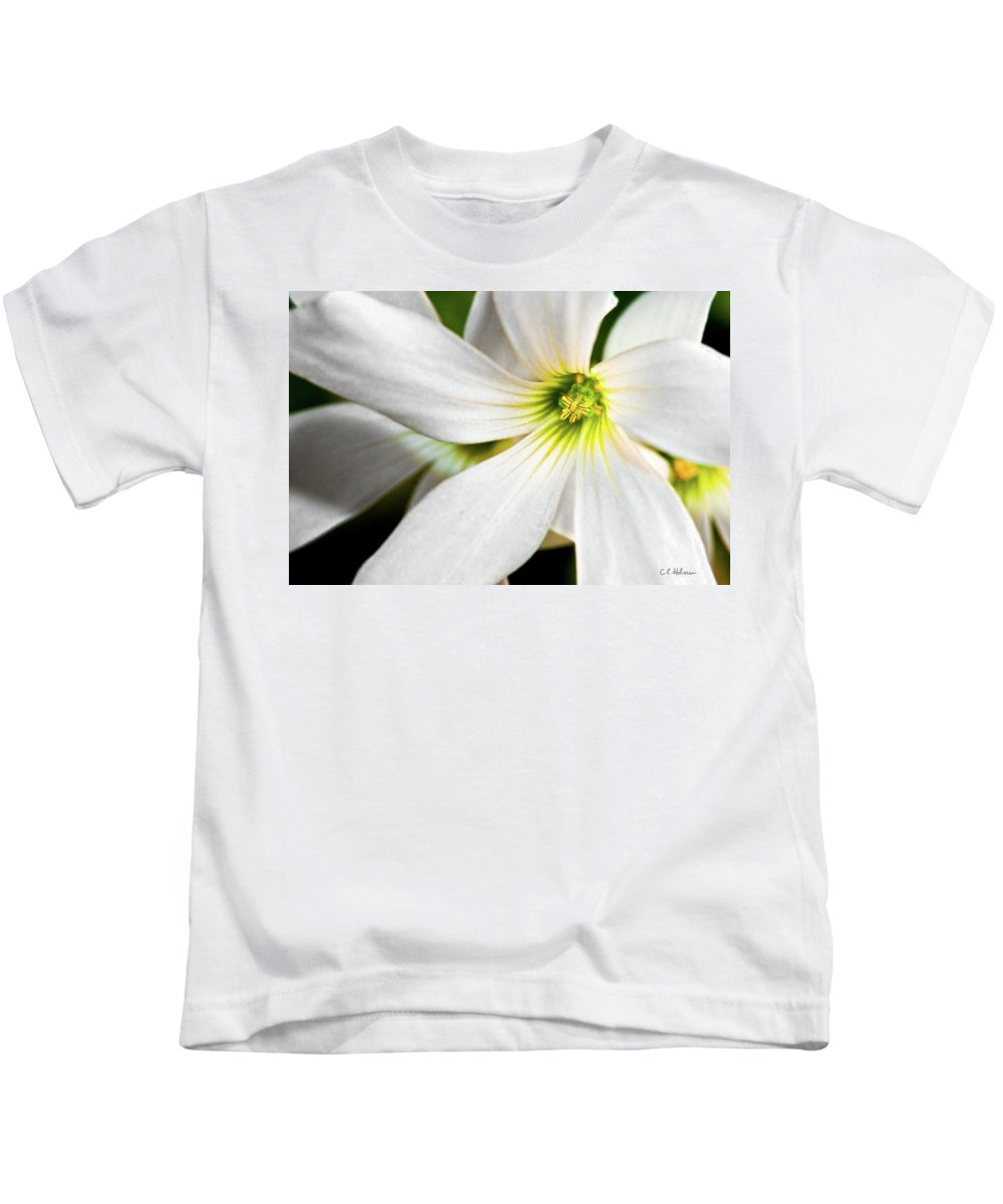 Flower Kids T-Shirt featuring the photograph Bright Center by Christopher Holmes