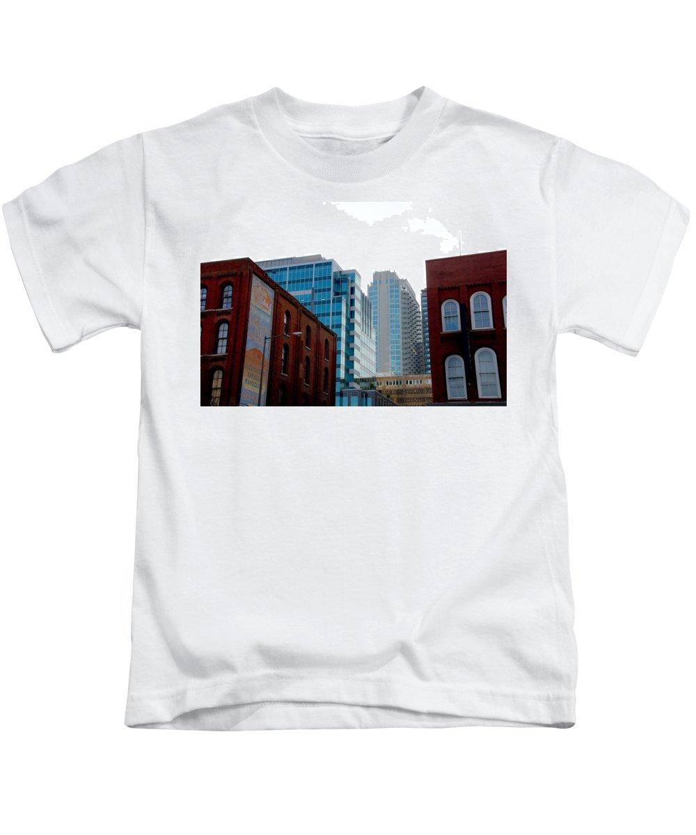 Nashville Photos Kids T-Shirt featuring the photograph Broadway Nashville Tn by Susanne Van Hulst