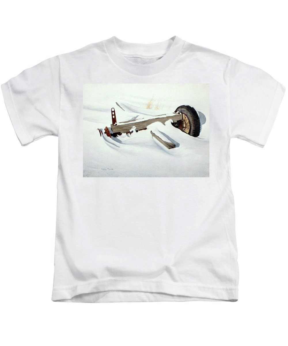Winter Kids T-Shirt featuring the painting Broken Dreams by Conrad Mieschke