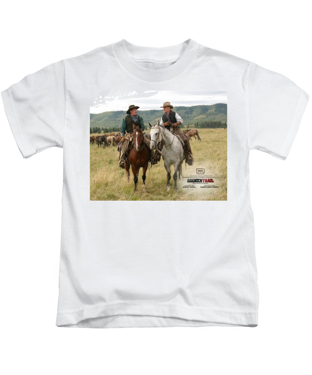 Broken Trail Kids T-Shirt featuring the digital art Broken Trail by Dorothy Binder