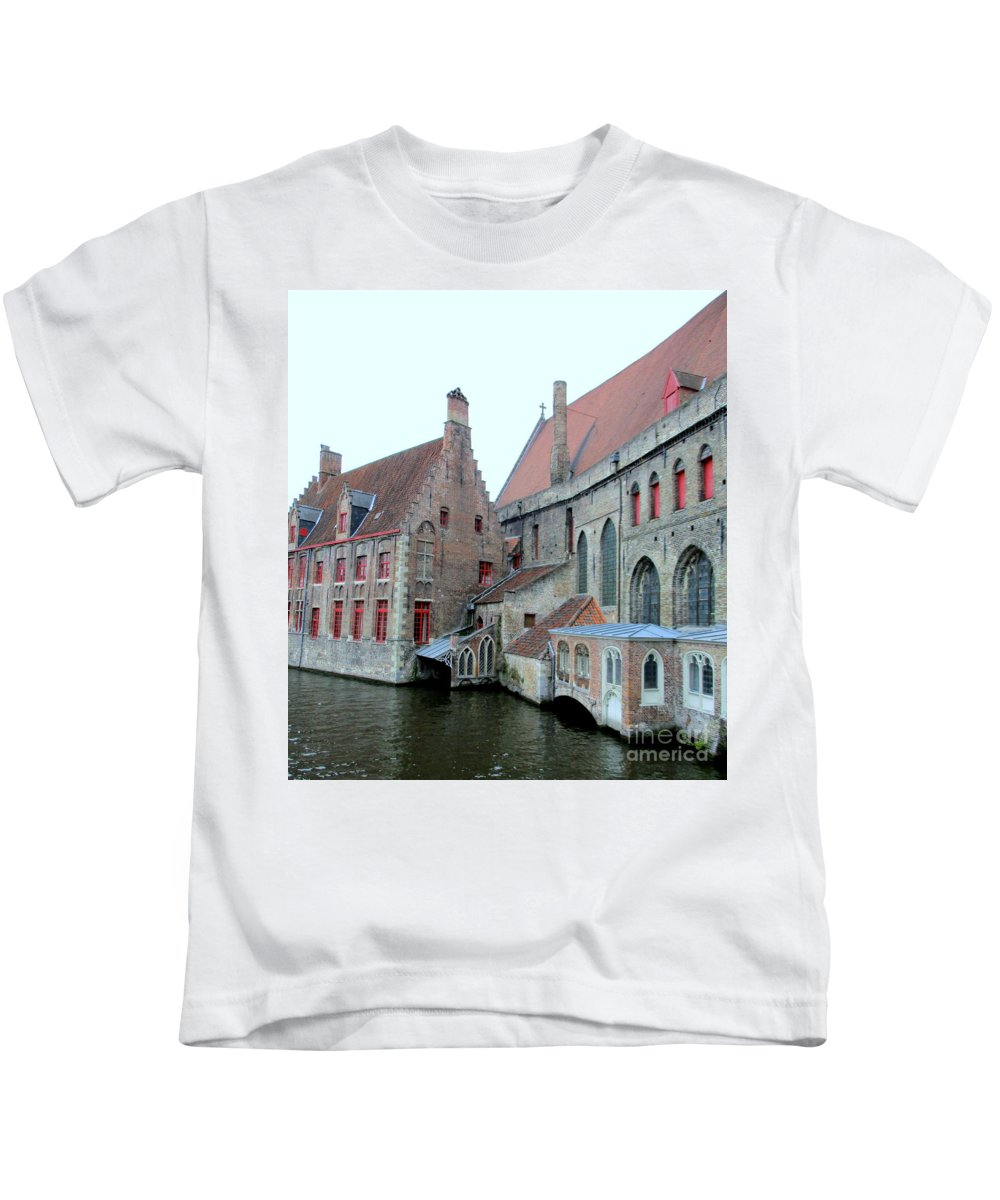 Bruges Kids T-Shirt featuring the photograph Bruges 4 by Randall Weidner