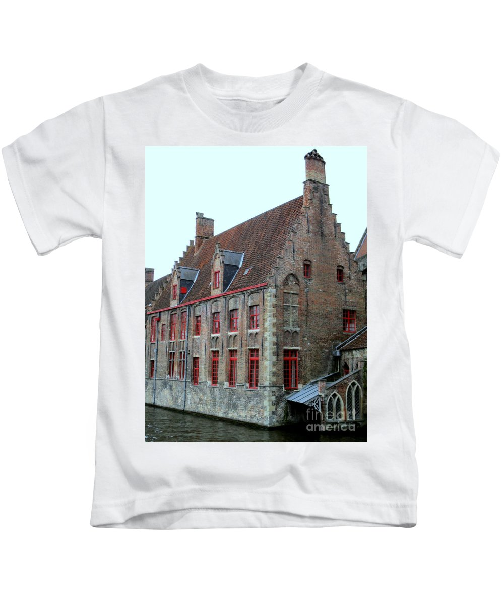 Bruges Kids T-Shirt featuring the photograph Bruges 5 by Randall Weidner