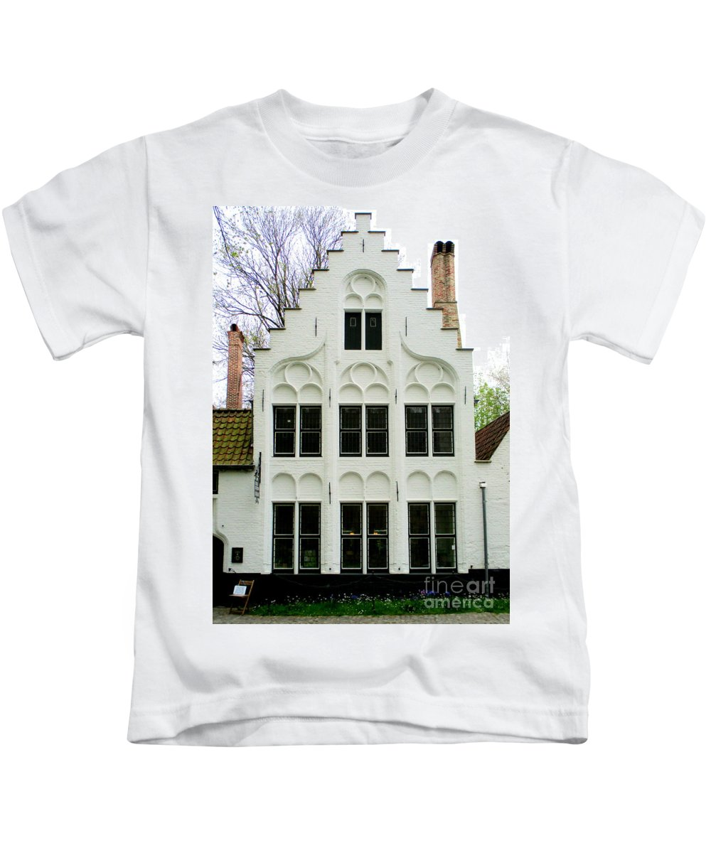 Bruges Kids T-Shirt featuring the photograph Bruges Begijnhof 3 by Randall Weidner