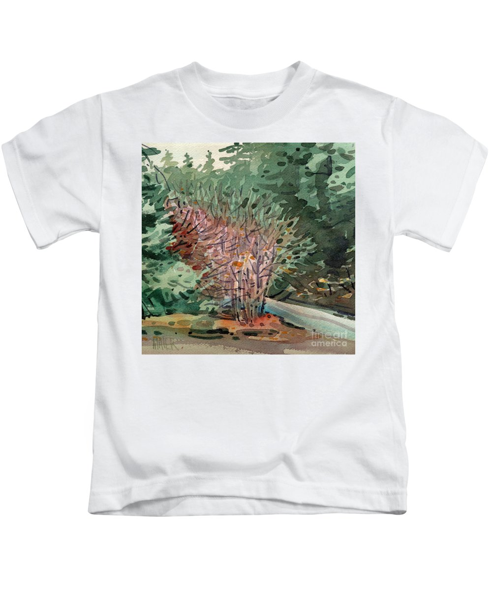 Buckeye Kids T-Shirt featuring the painting Buckeye And Redwoods by Donald Maier