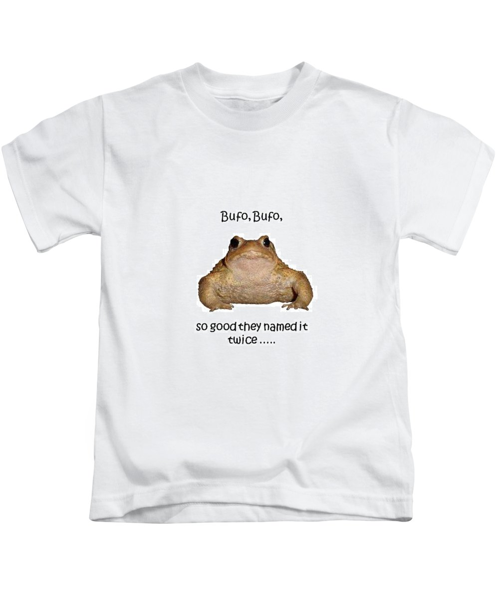European Kids T-Shirt featuring the photograph Bufo Bufo Toad So Good They Named It Twice by Taiche Acrylic Art